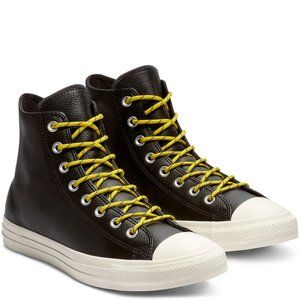 Converse Mens CTAS Hi Leather 163339C Black NWB